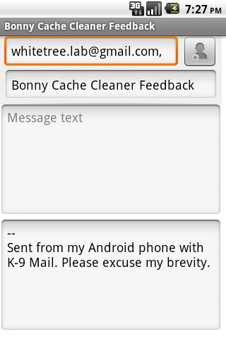 Bonny Cache Cleaner - screenshot