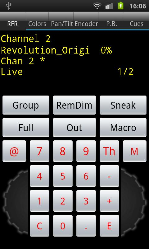 aRFR remote control - screenshot