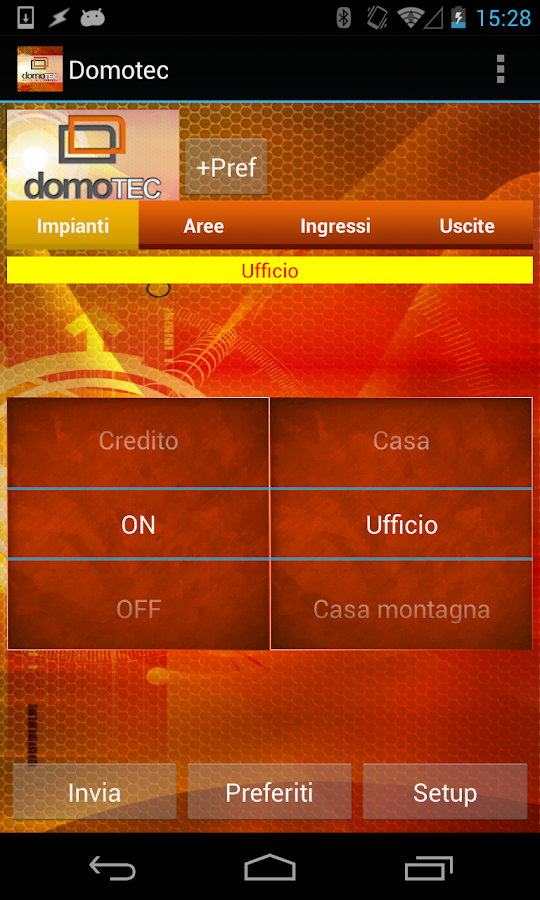 Domotec- screenshot
