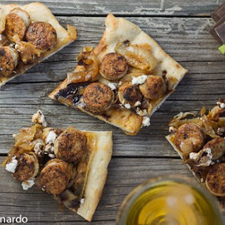 Brat & Balsamic Flatbreads