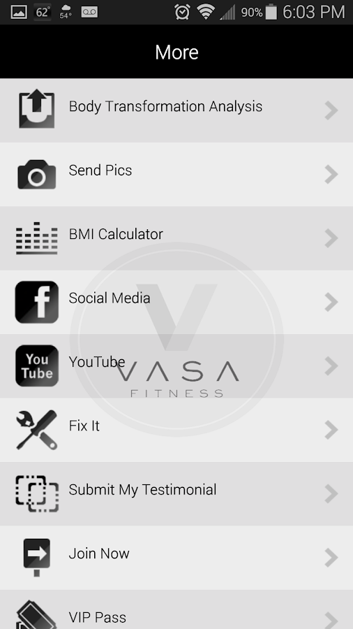 Vasa Fitness - screenshot
