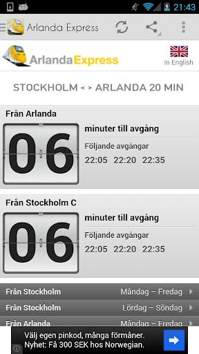 Arlanda Express Avgångar