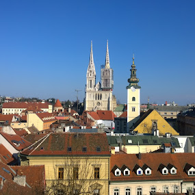 Zagreb by Lejla Hadziabdic - Uncategorized All Uncategorized ( #city #view #zagreb #croatia #roofs )