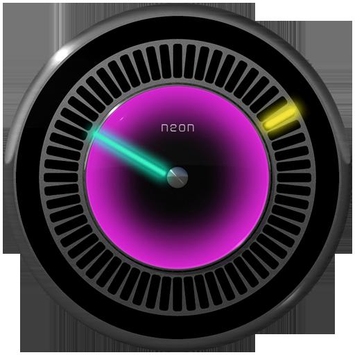 NEW NEON Laser Clock Widget