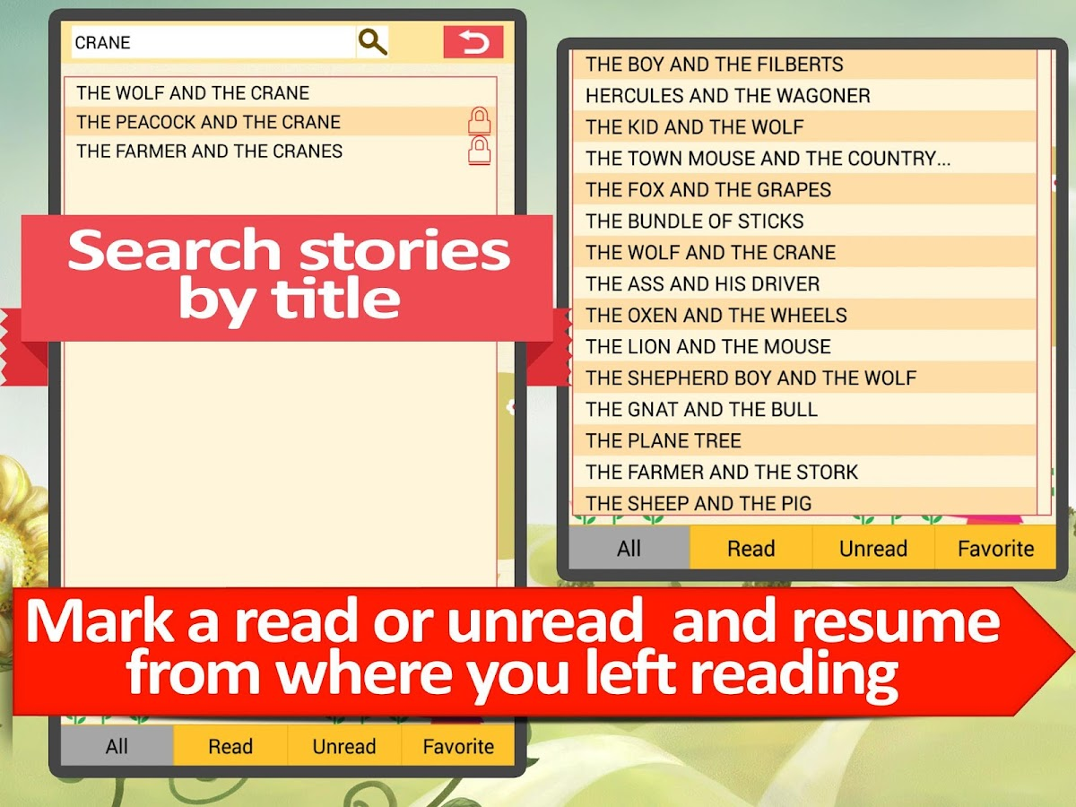 Aesops Fables stories for kids- screenshot