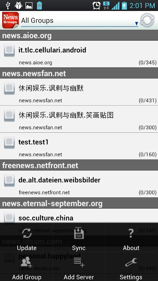 NewsGroup Reader - screenshot
