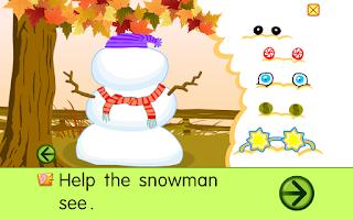 Screenshot of Starfall Snowman