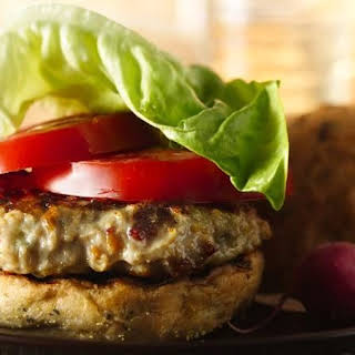 Blue Cheese and Bacon Chicken Burgers.