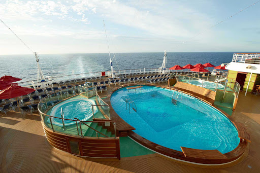 Carnival-Breeze-Aft-Pool - Take a morning swim in the Aft Pool on board Carnival Breeze.
