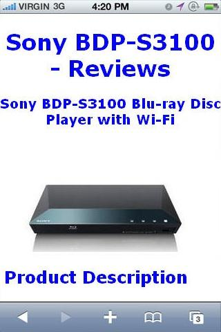 BDPS3100 Bluray Player Reviews