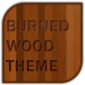 Burned Wood Go Launcher Theme