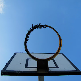 The old one... by Suaib Akhter - Sports & Fitness Basketball ( basketball, blue sky, sky, fall colors, blue, sports, sport, clear sky )