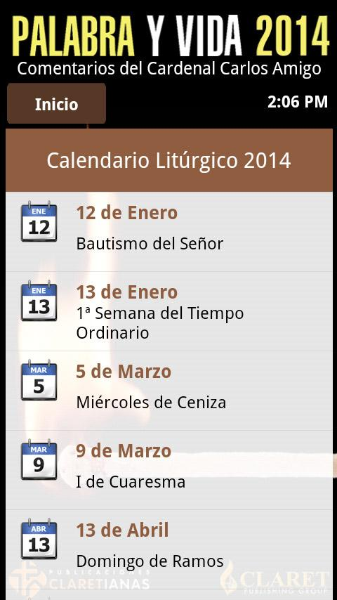Palabra y Vida 2014 - screenshot