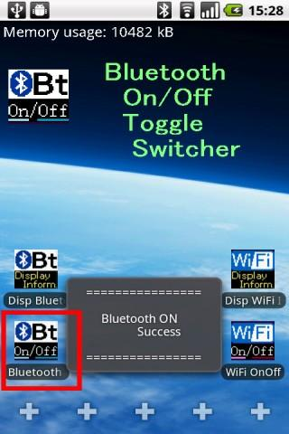 Bluetooth On/Off Toggle App. - screenshot