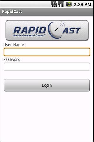 RapidCast- screenshot