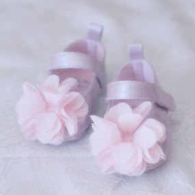 Pink shoes by Alessandra  Romano  - Artistic Objects Clothing & Accessories ( shoes, pink, baby, flowers, pretty )