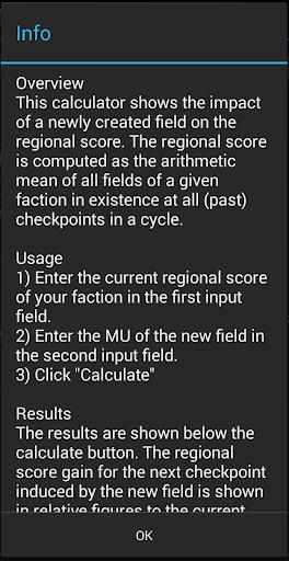 【免費工具App】Ingress Regional Score Calc-APP點子