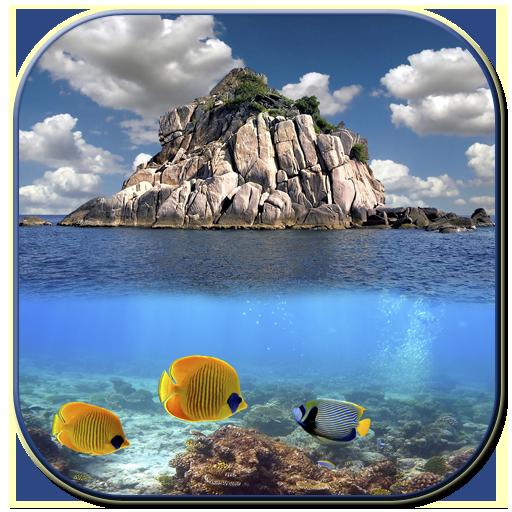海の表面の下で。 個人化 App LOGO-硬是要APP