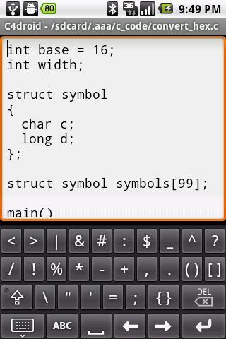 Programmers Keyboard- screenshot