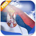 3D Serbia Flag Live Wallpaper