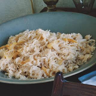 Sauerkraut with Apples.