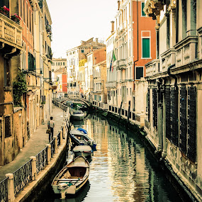 Streets of Venice by Justin Orr - City,  Street & Park  Historic Districts ( canals, gondola, europe, venice, italy, waterway )