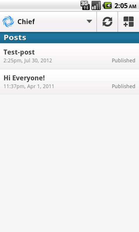 LettoBlog for Android- screenshot