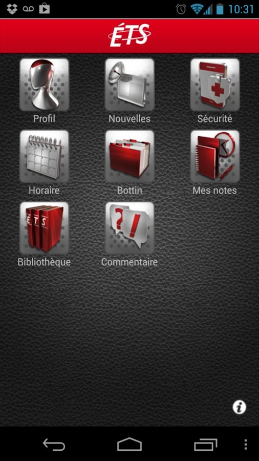 ÉTSMobile - screenshot