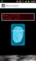 Screenshot of Idiots analyzer