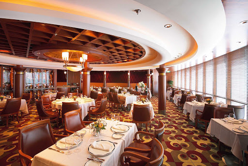 Enjoy a delicious dinner and fine wine at Chops Grille while cruising on Jewel of the Seas. The charge is $30 per diner. It's on deck 6 near Schooner bar.