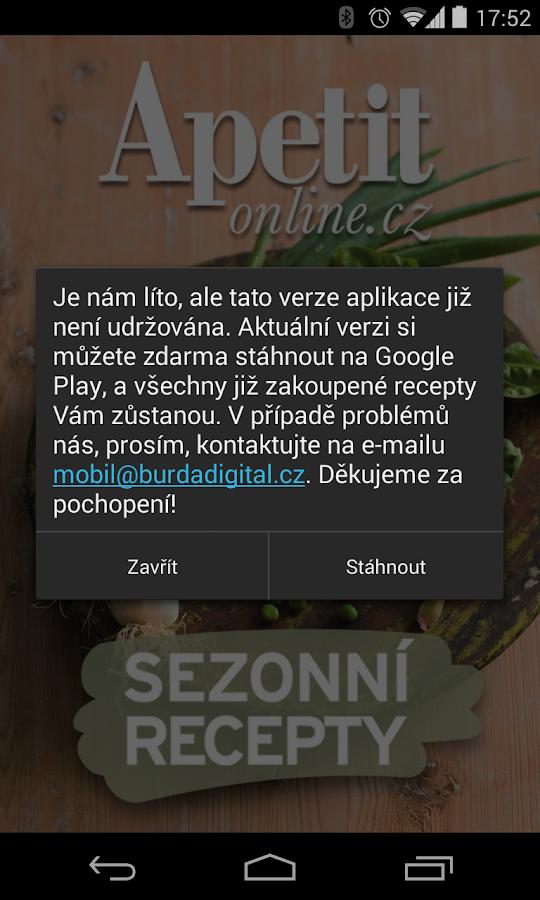 APETIT SEZONNÍ RECEPTY PŘESUN - screenshot