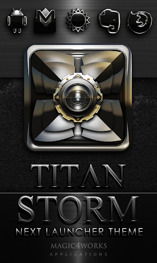 Next Launcher Theme T Storm