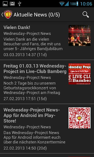 Wednesday-Project News