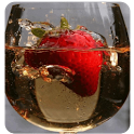 Strawberry in a glass icon