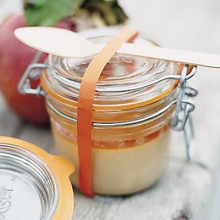 Butterscotch Custards with Apple-Cider Caramel