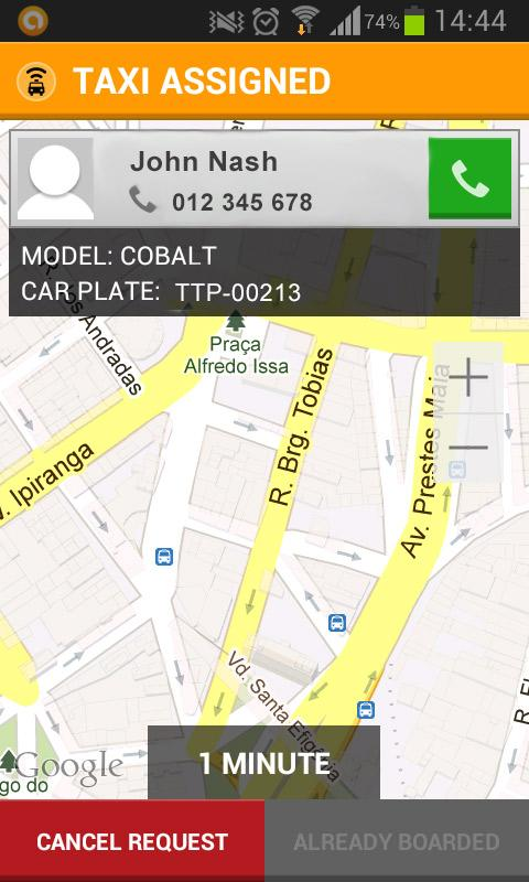 Easy Taxi – Taxi Cab App - screenshot