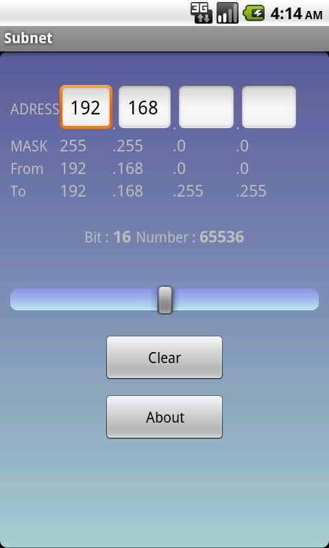 Subnet- screenshot