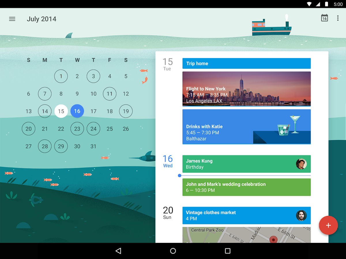 Calendario de Google - screenshot