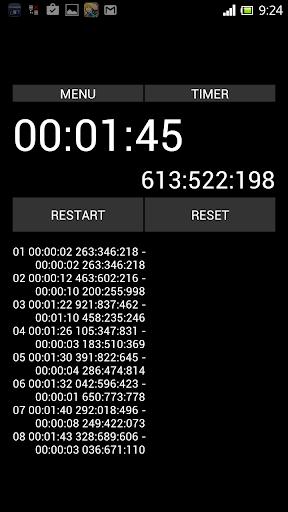 秒錶 定時器1000000000分之1秒