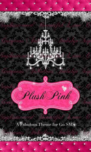 Damask Pink Velvet Theme SMS