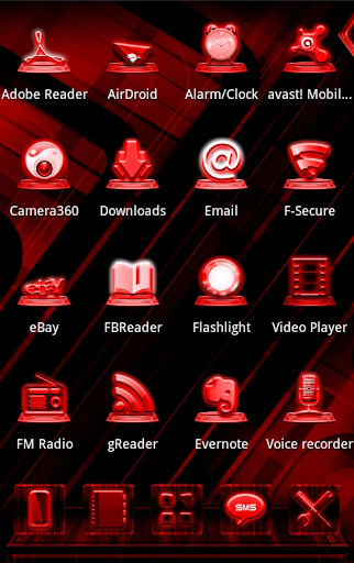 NEXT LAUNCHER RED STYLE THEME