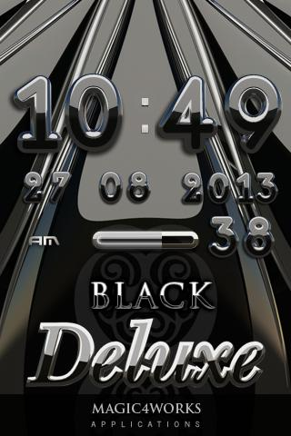 Black Deluxe digital Clock