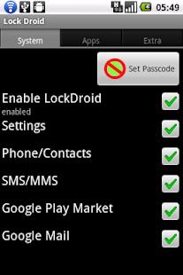 LockDroid protector - screenshot thumbnail