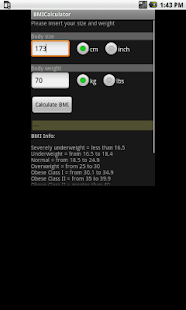OM BMI Body Mass Index Calc - screenshot thumbnail