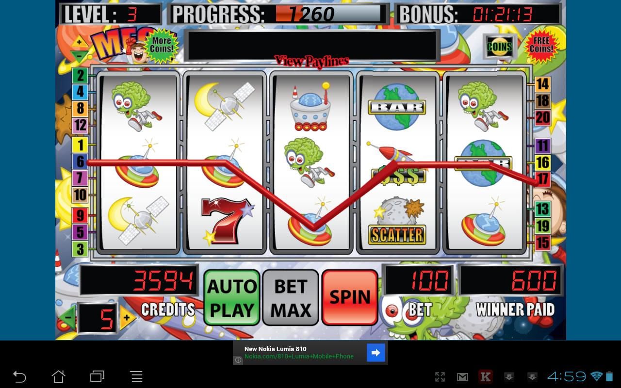 Mega Space Slot Machine - screenshot