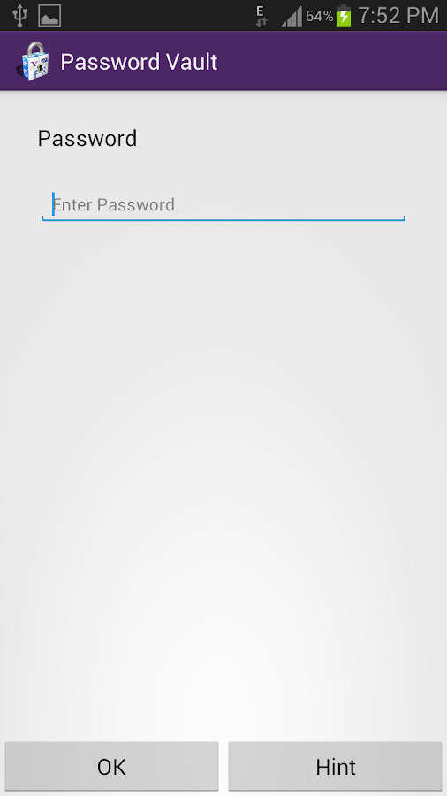 Password Vault- screenshot