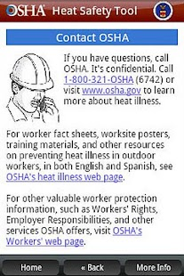 OSHA Heat Safety Tool - screenshot thumbnail