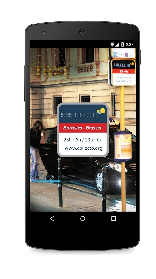 collecto bruxelles taxi 5 applications android sur google play. Black Bedroom Furniture Sets. Home Design Ideas