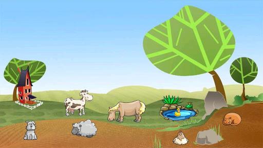 對於孩子們的農場動物的叫聲