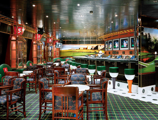 Carnival-Glory-On-the-Green-sports-bar - You can follow your favorite teams on the big-screen TV at On the Green, Carnival Glory's sports bar.